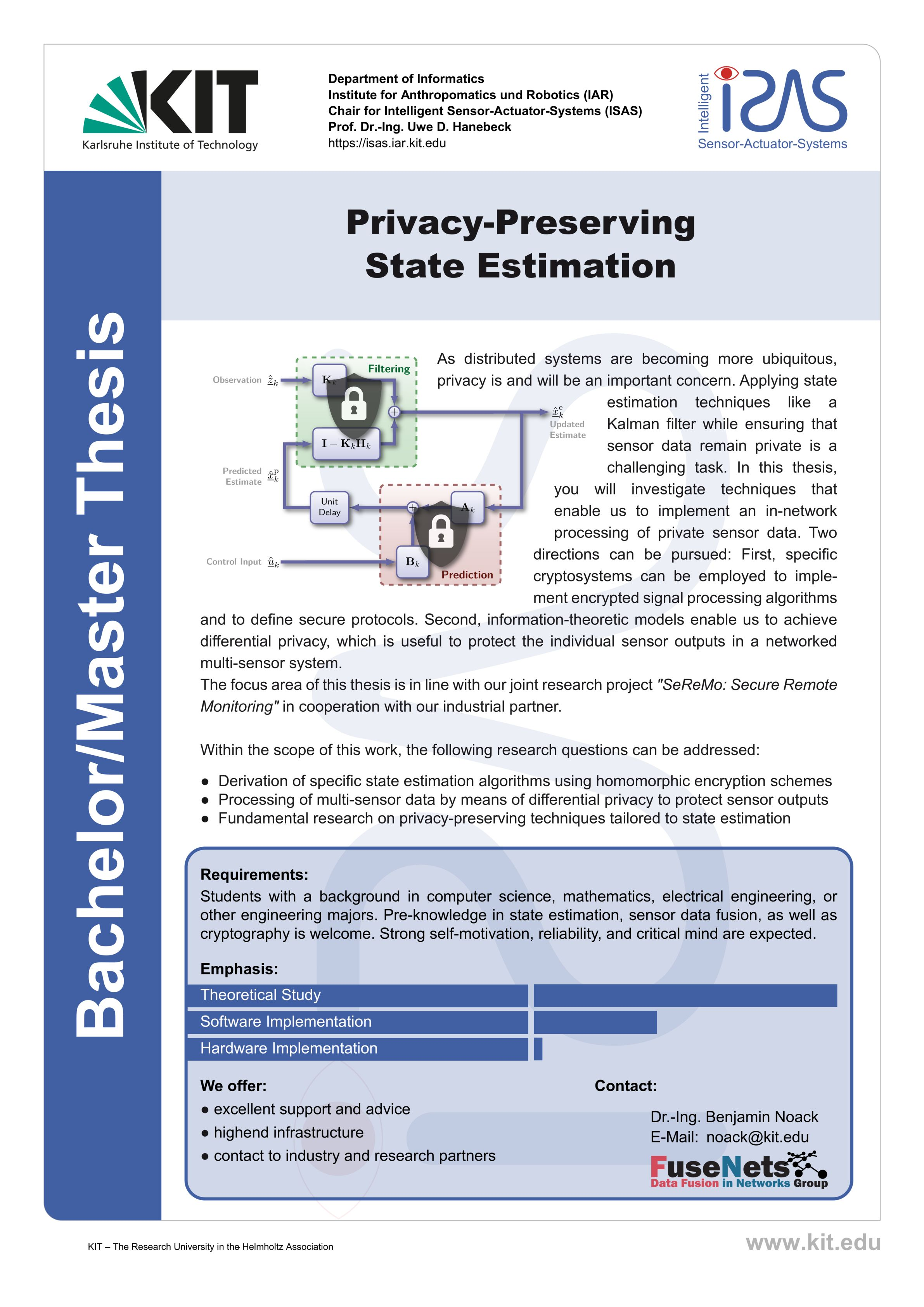 Privacy-Preserving State Estimation