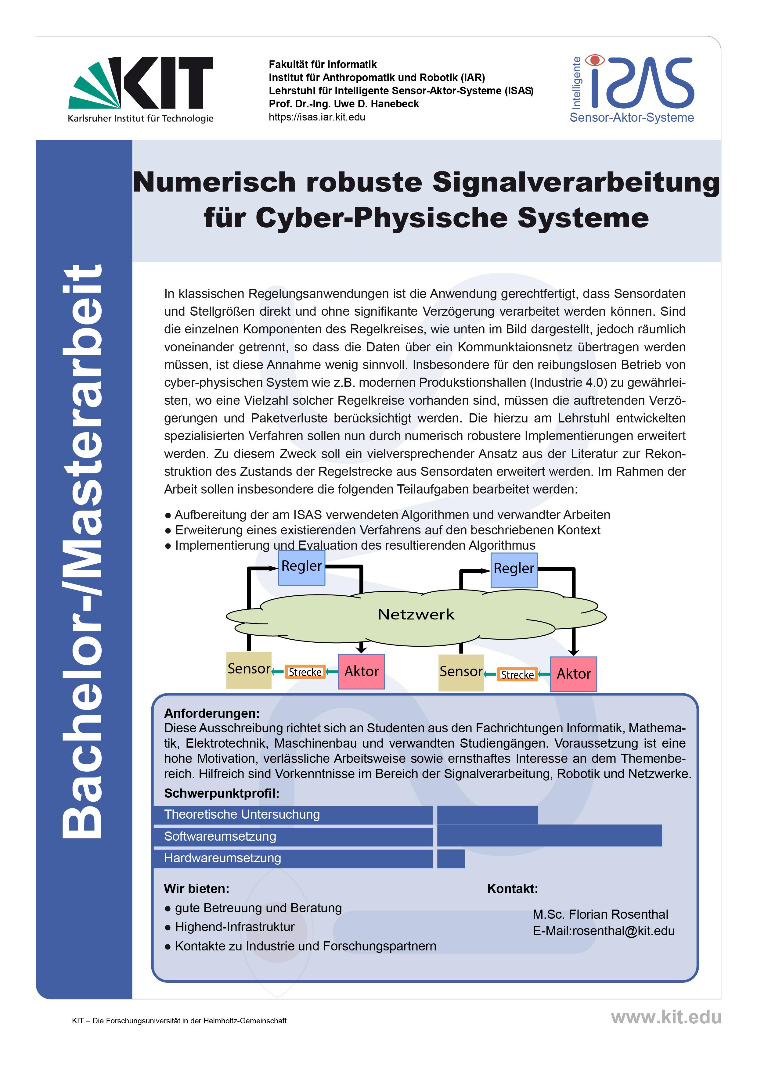 Numerisch robuste Signalverarbeitung für Cyber-Physische Systeme